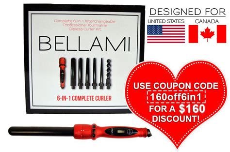 belami 6 in 1 hair curler bellami 6 in 1 complete curler set us can