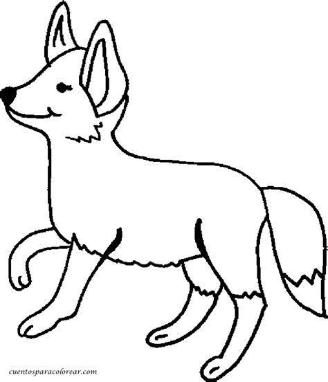 imagenes de un zorro para dibujar faciles dibujos para colorear zorros