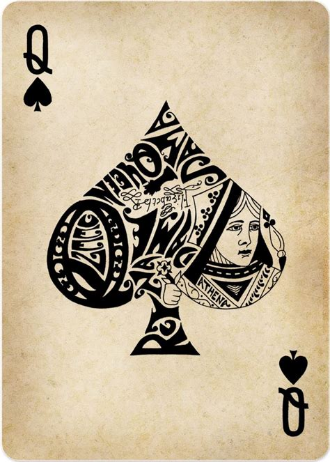 spades tattoo best 25 cards ideas on card