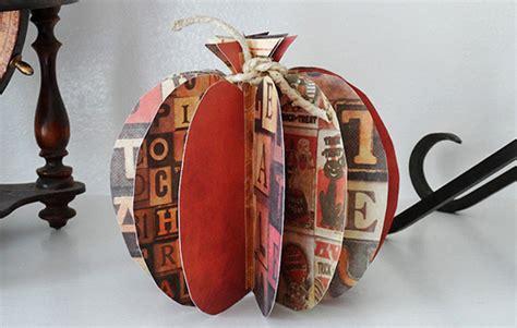 How To Make 3d Paper Pumpkins - 3d paper pumpkin crafts by amanda