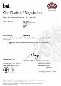quality assurance certificate template iso 13485 compliant device manufacturer