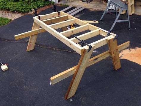 diy picnic bench how to build a picnic table in just one day simple diy