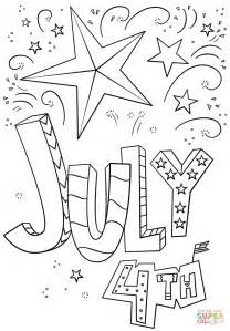 Coloring Page 4th Of July by 4th Of July Doodle Coloring Page Free Printable Coloring