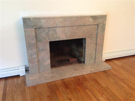 custom granite fireplace mantel installation contemporary