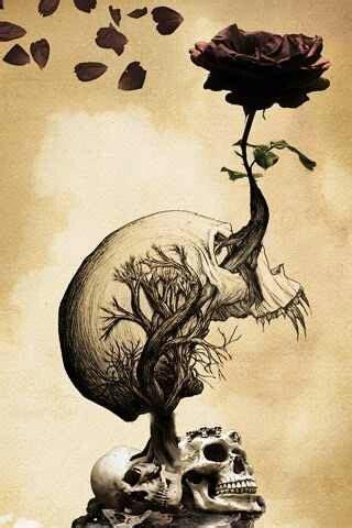 sick life tattoo skull tree graphics trees