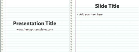 Notebook Ppt Template Free Powerpoint Templates Powerpoint Notebook Template