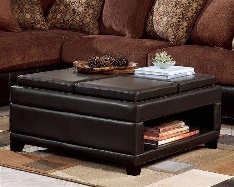 31 Inspirations Of Square Coffee Tables With Storage Cubes Large Storage Ottoman Coffee Table