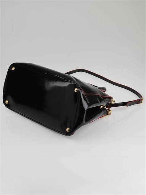 Hardy Leather And Patent Zip Top Purse by Prada Black Spazzolato Patent Leather Zip Top