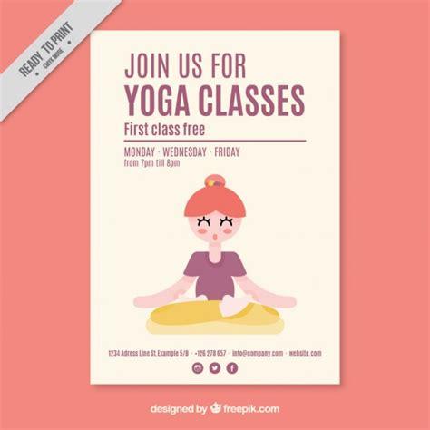 nettes m 228 dchen in yoga kurse flyer download der