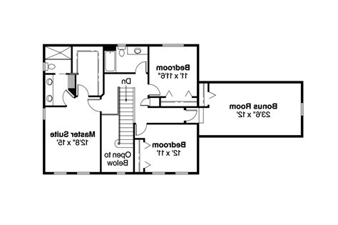 Colonial Floor Plan | colonial house plans colonial house plan with 2329 square