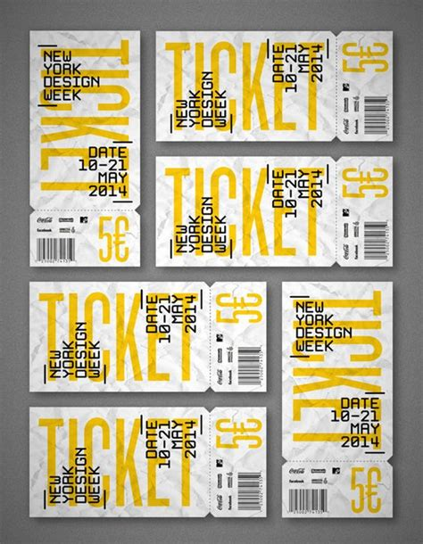 printable punch out tickets nycxdesign new york design week by jous lara via
