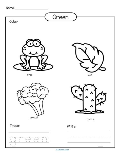 preschool coloring pages color green colors theme activities and printables for preschool and