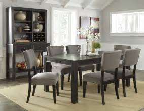 Ashley Furniture Dining Rooms gavelston urbanology black gray wood 7pc dining room set