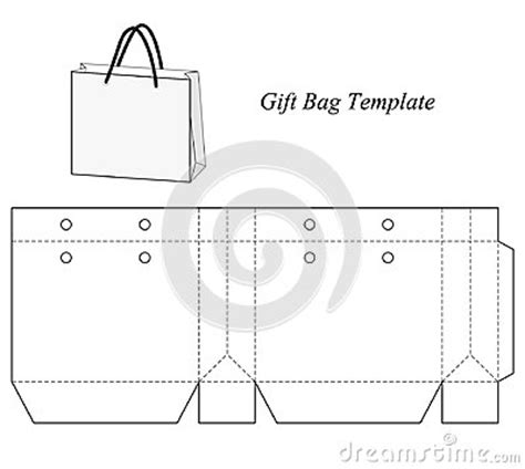 gift bag net template blank gift bag template stock vector image 48154672