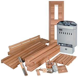 build a cedar sauna from a kit do it yourself cedar