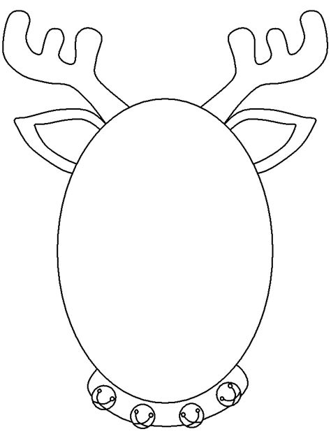 reindeer template cut out tree cutout template az coloring pages