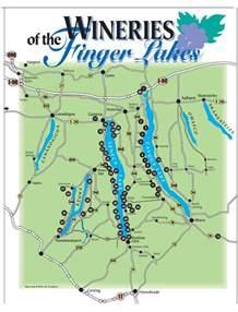 Finger Lakes New York Map by Finger Lakes Wineries Finger Lakes Wineries Ithaca Com