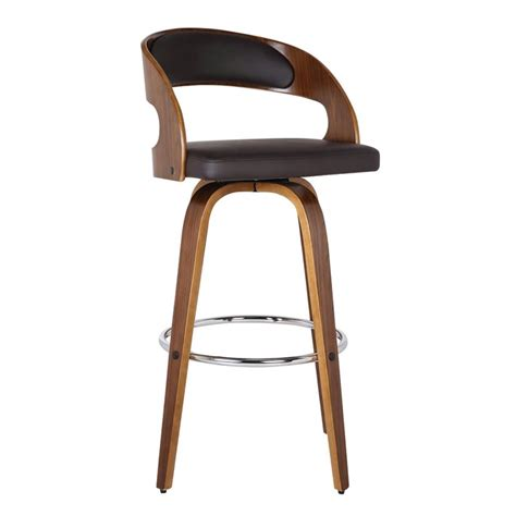 armen living shelly 26 quot faux leather counter stool in