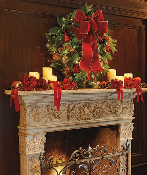 gorgeous fireplace mantel christmas decoration ideas