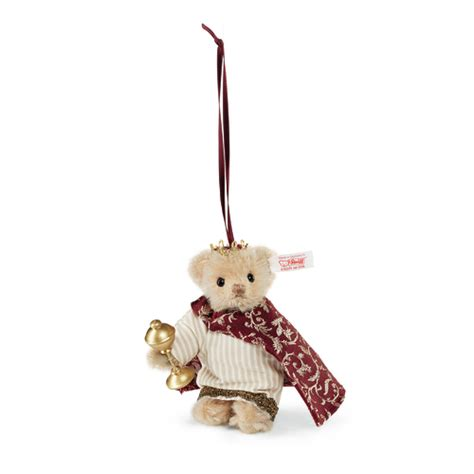 steiff ean 034138 christmas teddy bear ornament melchior