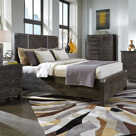 wood panel bed abington wood panel bed in weathered charcoal humble abode