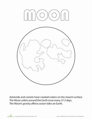 preschool coloring pages moon moon coloring page worksheet education com