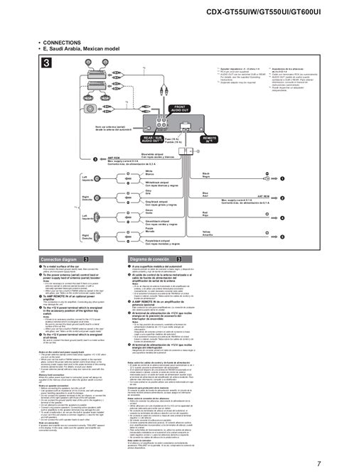 sony cdx gt550ui wiring diagram wiring diagram with