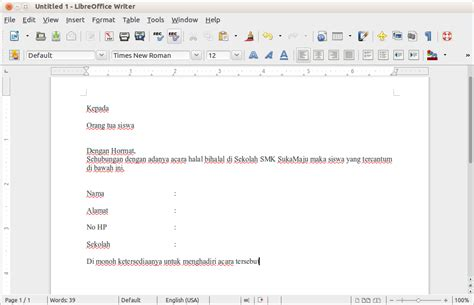 tutorial membuat mail merge di openoffice cara membuat mail merge di libre open office sucipto