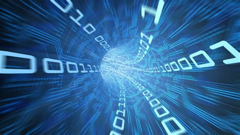 digital info data tunnel journey loopable animation in 4k inside