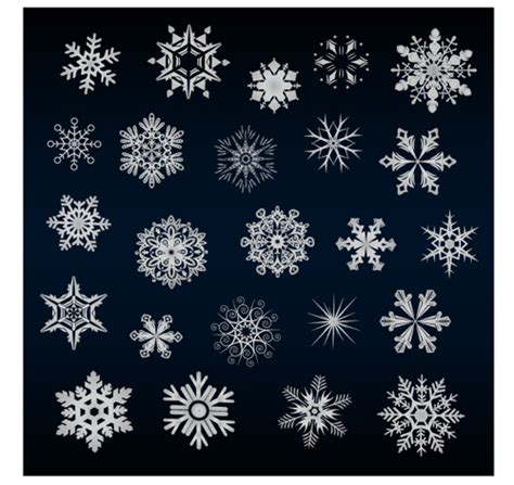 pattern snowflake ai beautiful snowflake pattern vectors 03 vector pattern