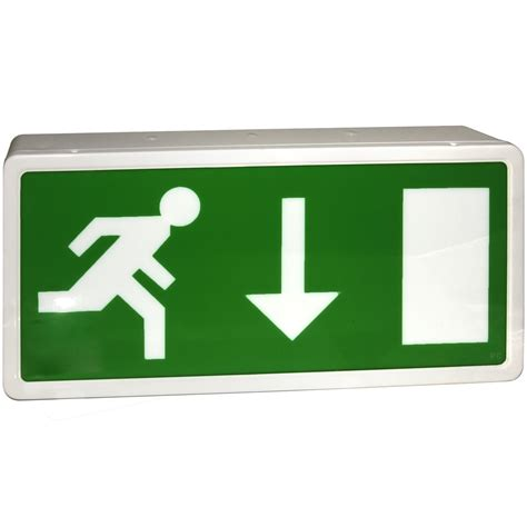 exit sign light box eterna maintained led emergency exit box sign fire