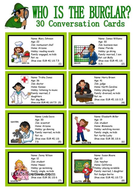 conversation themes in english 23 best ell board and card games images on pinterest