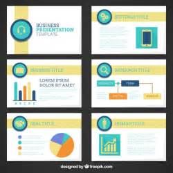 company presentation template with graphics vector free