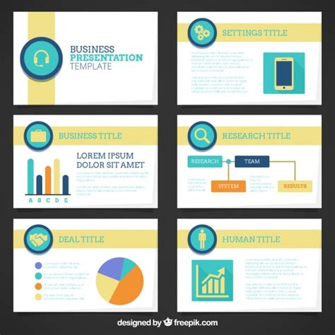 Company Presentation Template With Graphics Vector Free Company Presentation Template Free