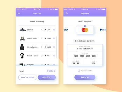 javascript card layout daily ui 002 credit card checkout by gouse mohammed