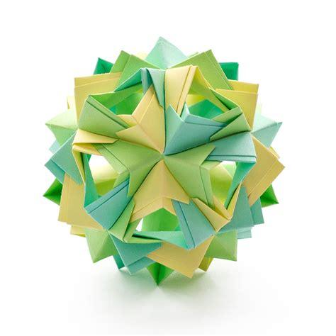 Origami Kusudama - island kusudama by sinayskaya diagram go