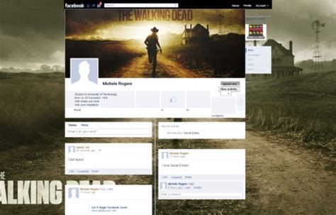 themes facebook layout the walking dead facebook layouts the walking dead