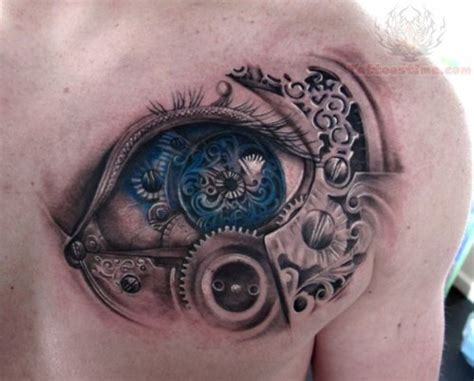 tattoo eye shoulder mechanical tattoo images designs