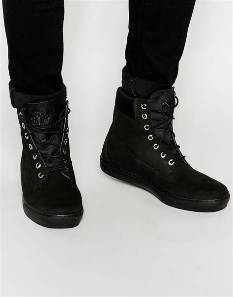 timberland newmarket boots timberland newmarket cupsole boots in black for lyst