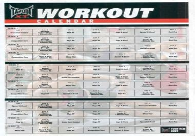 printable tapout xt calendar 17 best images about getting fit on pinterest p90x
