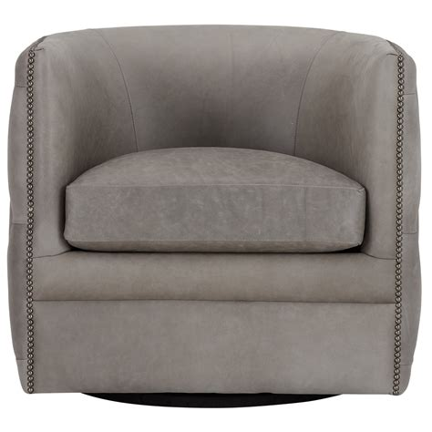 Gray Swivel Chair - palazzo gray leather swivel accent chair