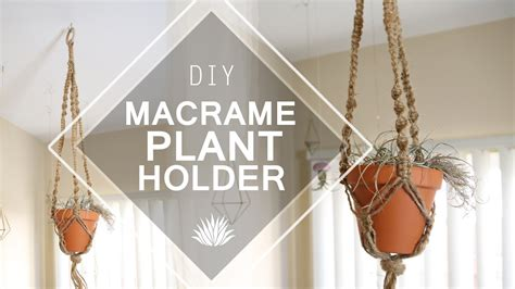 Macrame Plant Holder Tutorial - macrame plant holder diy