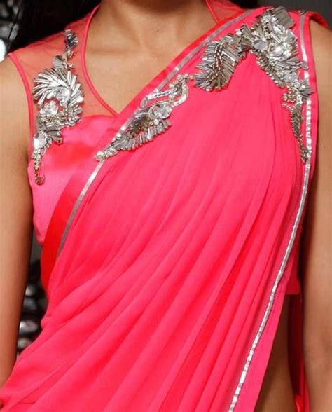 which colour blouse suits for pink saree dark pink color party wear saree panache haute couture