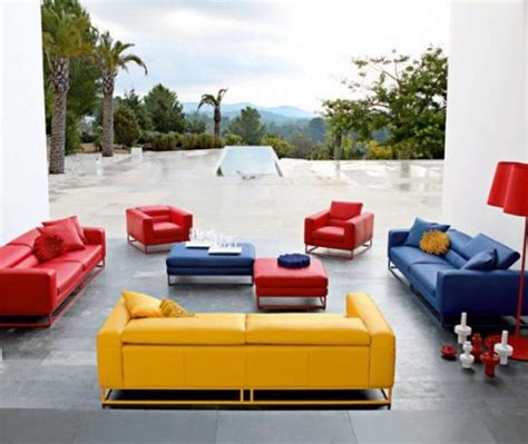 bright leather sofa bright and modern sofas by roche bobois digsdigs