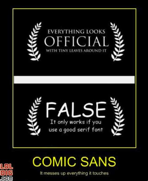 Font Meme - the meme indicates a capitalized serif font creates a