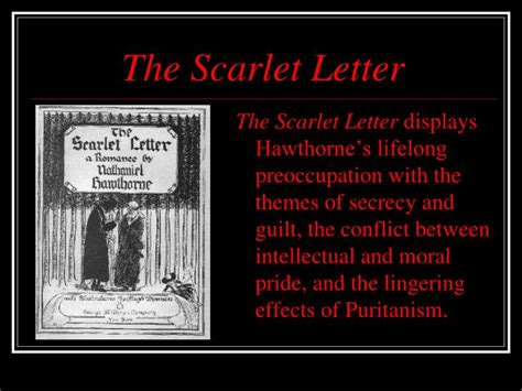 theme of forgiveness in the scarlet letter ppt the scarlet letter powerpoint presentation id 2199847