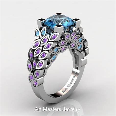 vintage blue topaz engagement rings more information