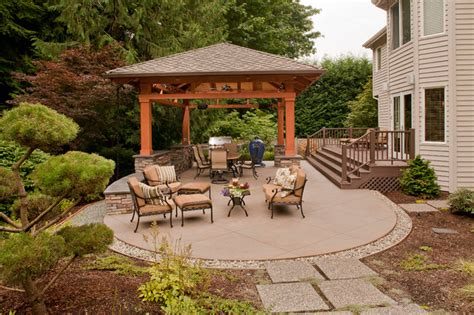 Detached Patio Cover by Detached Covered Patio Traditional Patio Seattle