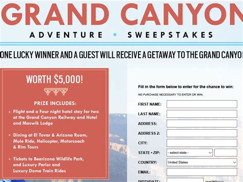 magazine sweepstakes oprah magazine grand canyon adventure sweepstakes