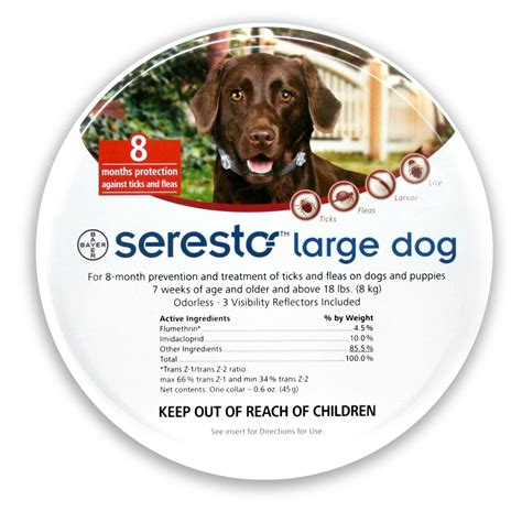 seresto flea tick collar seresto flea tick collar for dogs 18lbs chaar